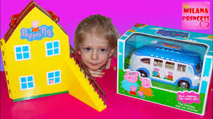 <b>Игровой набор</b> Свинка <b>Пеппа</b> на Отдыхе с Автобусом. Toys set ...