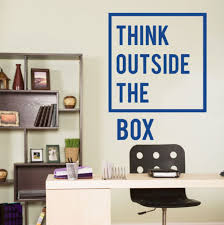 inspirational office decor. Unique Decor Inspirational Motivational Office Decoration Think Outside The Box Quotes  Wall Decal Art Decor Home Stickers D706in From  Intended AliExpresscom