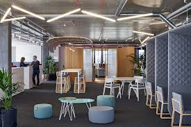 office meeting rooms. Creative Meeting Area In Open Plan Office With Various Spaces Rooms