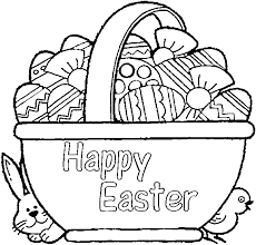 Small Picture Coloring Pages Empty Easter Basket Coloring Page Happy Easter