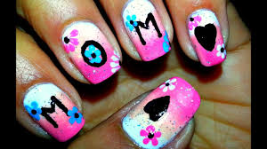 Mother S Day Nail Designs Mothers Day Nail Art Tutorial Diy Nail Art Design