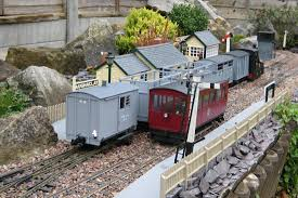 garden railways. A Fictional 45mm Gauge Garden Railway Set In County Donegal. Some Very Impressive Rolling Stock And General Information About Construction. Railways