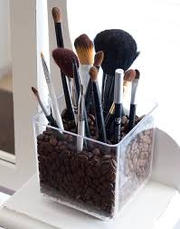 coffee bean make up brush holder it also doubles as a coffee bean room air freshener i nice little wake me up you could also use things like dried beans