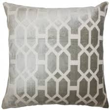 kylie t interiors laine geometric pillow grey  opulent and plush