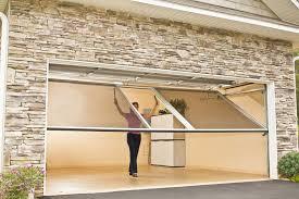 retractable garage door screen modern design