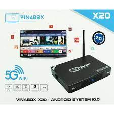 Mã 159ELSALE hoàn 7% đơn 300K] TV BOX VINABOX X20, ANDROID 10 SIÊU MƯỢT