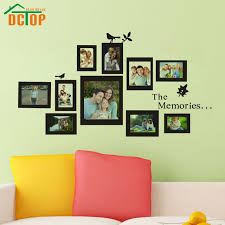 Small Picture Aliexpresscom Buy DCTOP Photo Frame Wall Decals Removable