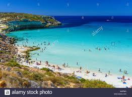Italy Sicily Lampedusa Island Rabbit Beach Stock Photo 174908217