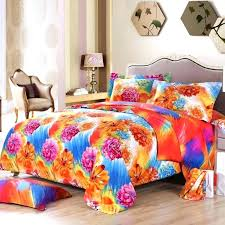 orange and blue bedding sets modern teen bedroom with hot pink fl bed sheets queen