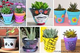 awesome flower pot painting ideas kids