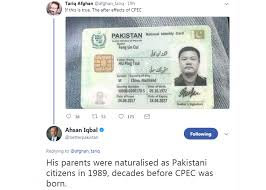 Ahsan Iqbal Pakistani Pakistan Id Card - Dunya News Chinese Man Truth Reveals Of Behind