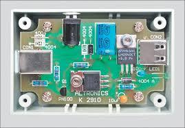 usb power injector for external hard drives circuit diagram description