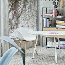 hay about a chair aac22 matt lacquered oak white