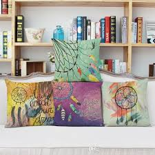 Dream Catcher A Memoir Dream Catcher Cushion Covers Candy Color Feather Pillow Cases Thin 77
