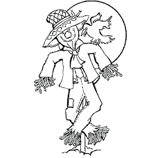 free printable scarecrow coloring sheets page face s