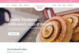 18 Best Bakery Website Templates Html Wordpress 2019