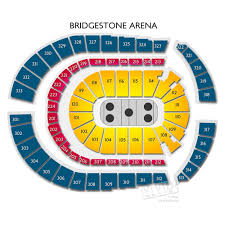 Bridgestone Arena Detailed Seating Chart Bridgestone Arena Interactive Seating Chart For Concerts