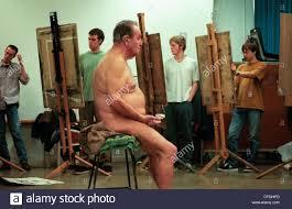 Nude model art class male
