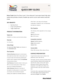 Quick Dry Gloss Dulux Trade Paint Expert