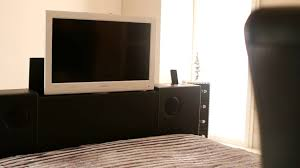 Bed With Tv Built In New Black Double Leather Music Tv Bed With Built In Speakers And