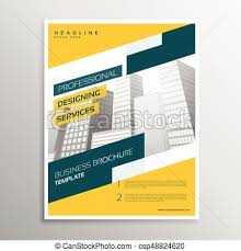 Business Flyer Design Templates Creative Yellow Grometric Business Flyer Brochure Design Template