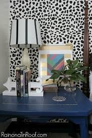leopard skin accent wall via rainonatinroof com leopard animalprint accentwall stencil