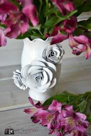 Paper Flower Base Create A Decorative Flower Vase With Paper How To Make A Paper