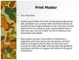 Military Camo Powerpoint Template Background Subscriptiontemplates Com
