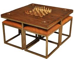 Low Game Table With Four Stools [25693]