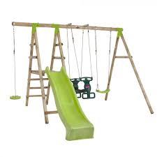 muriqui wooden swing set with slide