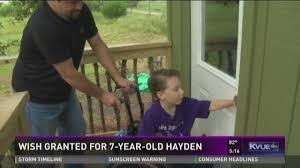 Make-A-Wish helps Central Texas boy get his dream tree house | khou.com