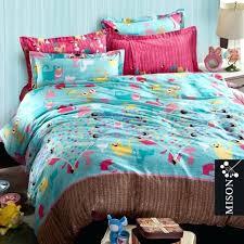 yellow polka dot duvet cover cute little cat print bedding set children cartoon cat comforter set
