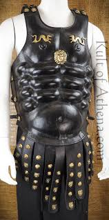 leather muscle armor with studded tassets