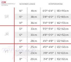 Ccm Shin Guard Size Chart Shin Guards Ccm Jetspeed Ft370 Senior 14 Inch 03023068 1