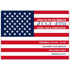 Flag 4th Of July Invitations