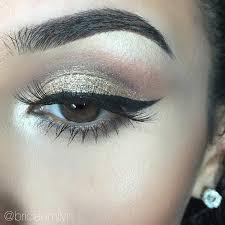 elegant gold eye makeup look for prom