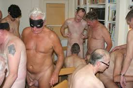 Orgy older men on