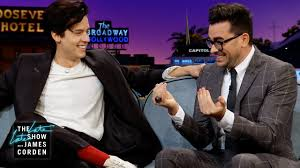 Dan levy is a simple man at heart; Cole Sprouse Dan Levy Are Used To Fan Photos Youtube