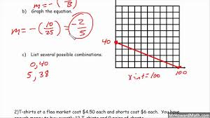 standard form linear equation word problems