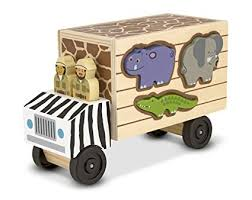 Melissa & Doug 15180 Rescue Shape Sorting Truck <b>Wooden Toy</b> ...
