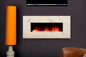 image of in wall electric fireplace contemporary