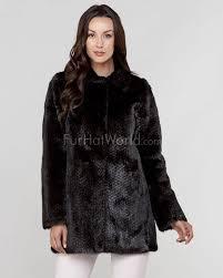 beth reversible mink fur coat to cashmere blend