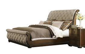 tufted upholstered sleigh bed.  Sleigh Liberty Furniture Cotswold Tufted Linen Upholstered Sleigh Bed 545BRQSL Intended O