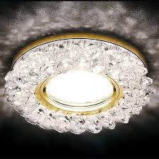 Встраиваемый <b>светильник Ambrella</b> LED <b>S701</b> CL/GD/WH