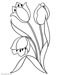 Preschool Coloring Pages Flowers Flower Coloring Pages Of