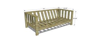 simple wooden chair plans. Dimensions For Free DIY Furniture Plans // How To Build An Outdoor Reef Sofa With Modifications Cushions From Target | The Home Pinterest Diy Simple Wooden Chair T