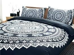 bedding sets black and white mandala bohemian duvet cover covers king queen size full double