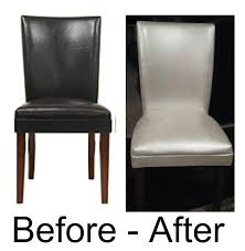 how to paint leather furniture. Painted Leather/faux Leather Dining Chairs How To Paint Furniture