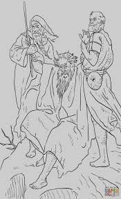 The Good Samaritan Coloring Pages Free Coloring Page Of Aaron Helps