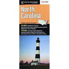 Interstate Mileage Chart North Carolina By Adc Folding Travel Map The Map Shop